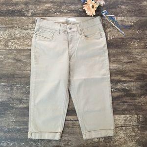 Levi's Tan Capri Cuffed Jeans